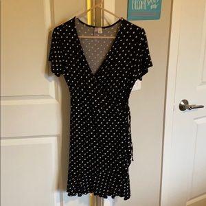 Size medium polka dot wrap dress